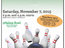 13 Customize Our Free Bowling Flyer Template Free Now by Bowling Flyer Template Free