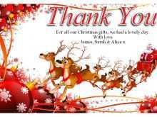 13 Format Christmas Thank You Card Templates Free With Stunning Design with Christmas Thank You Card Templates Free