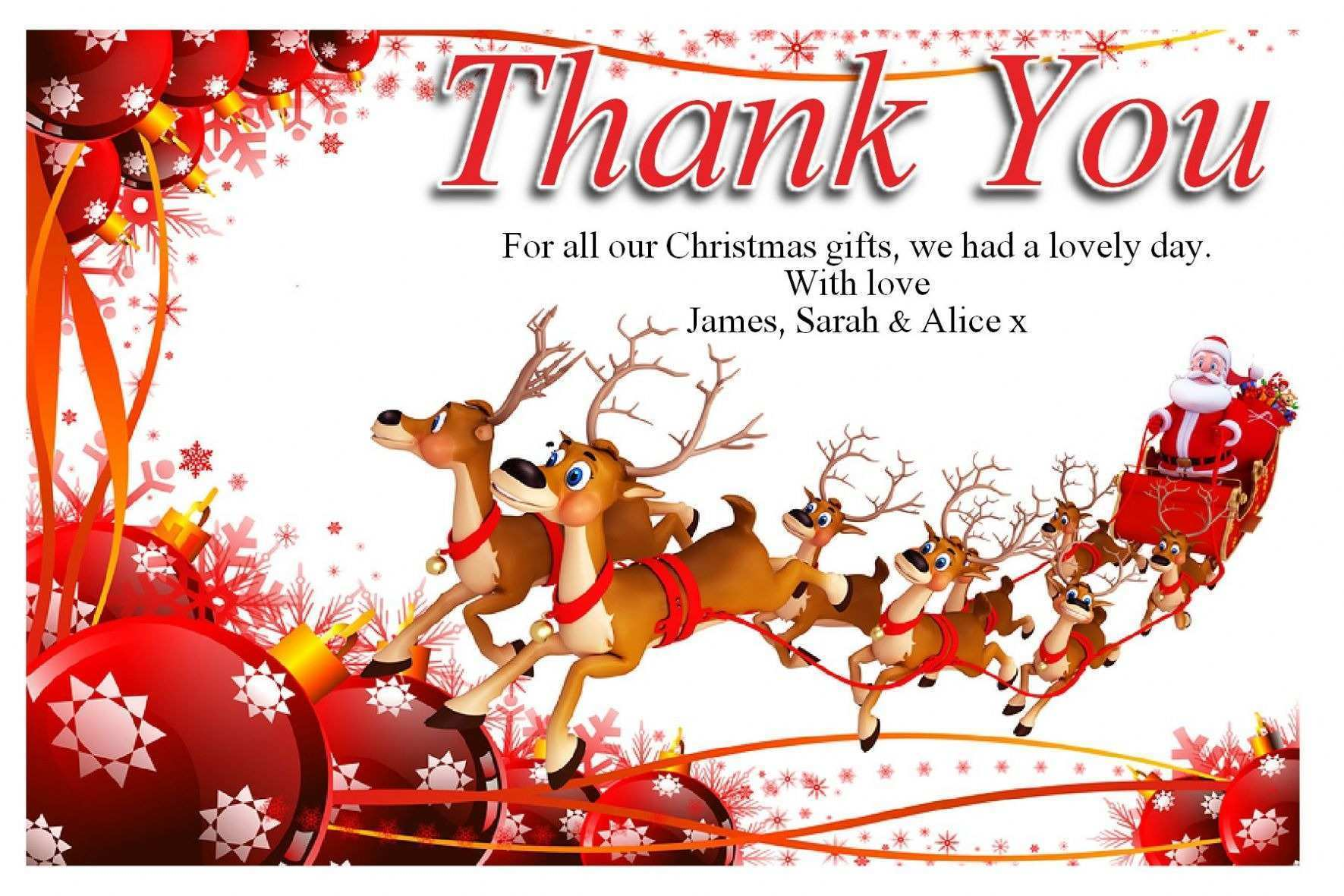 21 Format Christmas Thank You Card Templates Free With Stunning In Christmas Thank You Card Templates Free