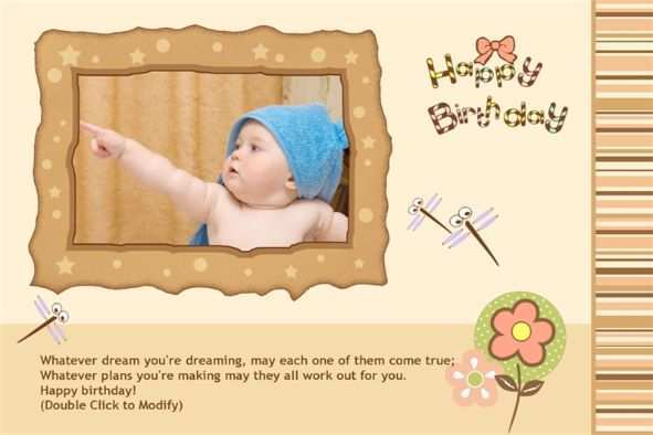 13 Free Baby Happy Birthday Card Template Layouts for Baby Happy Birthday Card Template