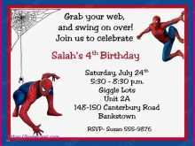 13 Free Birthday Card Template Spiderman For Free for Birthday Card Template Spiderman