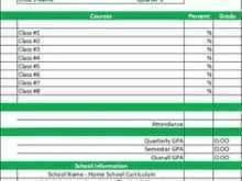 13 Free Printable Homeschool Report Card Template Middle School for Ms Word by Homeschool Report Card Template Middle School