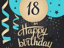 13 How To Create 18Th Birthday Card Template Free Layouts with 18Th Birthday Card Template Free