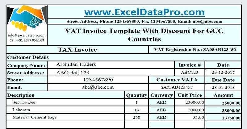 13 Online Vat Invoice Template Uk Excel In Word For Vat Invoice Template Uk Excel Cards Design Templates
