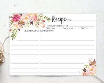 13 Printable 5 X 7 Recipe Card Template Maker by 5 X 7 Recipe Card Template