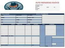 13 Standard Car Repair Invoice Template Excel Formating by Car Repair Invoice Template Excel