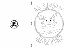 13 Standard Easter Card Templates To Print in Photoshop by Easter Card Templates To Print