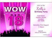 Invitation Card Template For 18Th Birthday