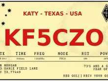 13 Standard Qsl Card Template Download Download with Qsl Card Template Download
