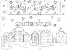 13 The Best Christmas Card Template Pages Layouts with Christmas Card Template Pages