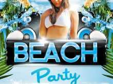 14 Adding Beach Party Flyer Template in Photoshop with Beach Party Flyer Template