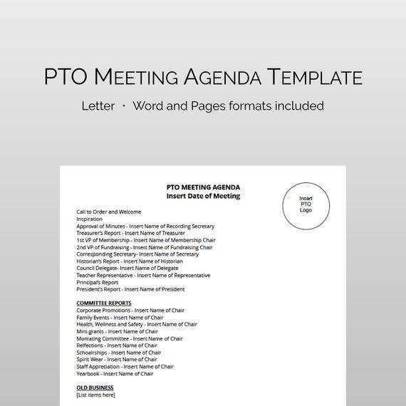 Pto Meeting Agenda Template from legaldbol.com
