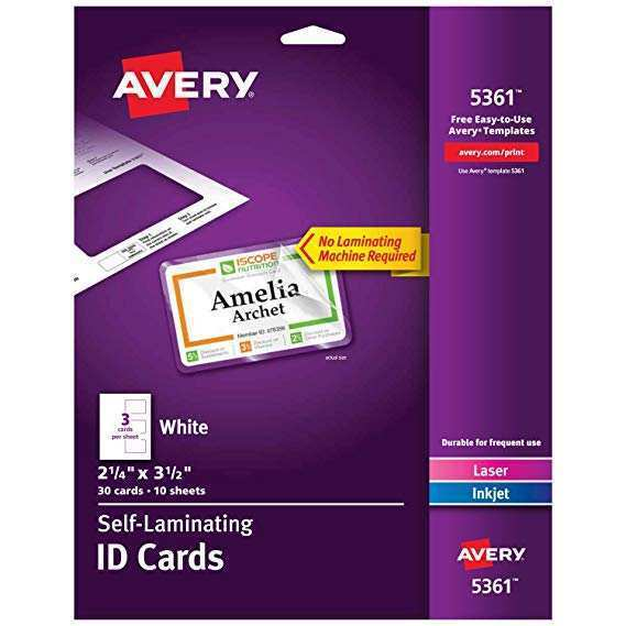 14 Avery Laminated Id Card Template for Ms Word by Avery Laminated Id Card Template