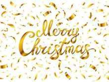 14 Best Christmas Card Template Gold in Word with Christmas Card Template Gold