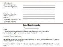 Music Artist Invoice Template