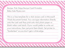 14 Best Recipe Card Template For Word 4X6 in Word with Recipe Card Template For Word 4X6