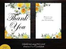 5 X 7 Thank You Card Template