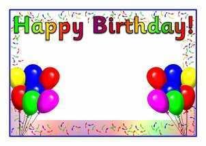 Superb 14 Blank Birthday Card Templates Sparklebox Maker With Birthday Personalised Birthday Cards Bromeletsinfo