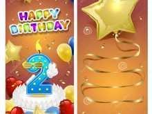 Happy Birthday Card Template Illustrator