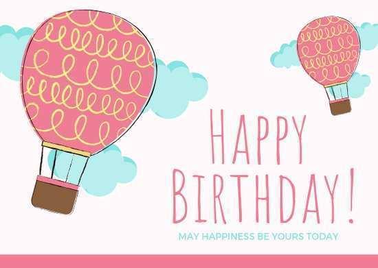 14 Creative Happy Birthday Card Template A4 PSD File with Happy Birthday Card Template A4