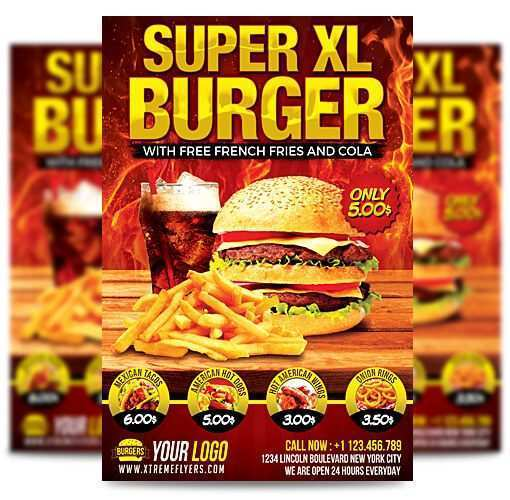 14 Customize Burger Flyer Template Templates for Burger Flyer Template