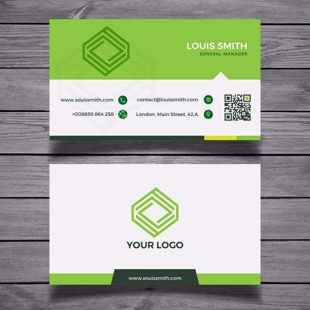 14 Format Business Card Template Green Formating for Business Card Template Green