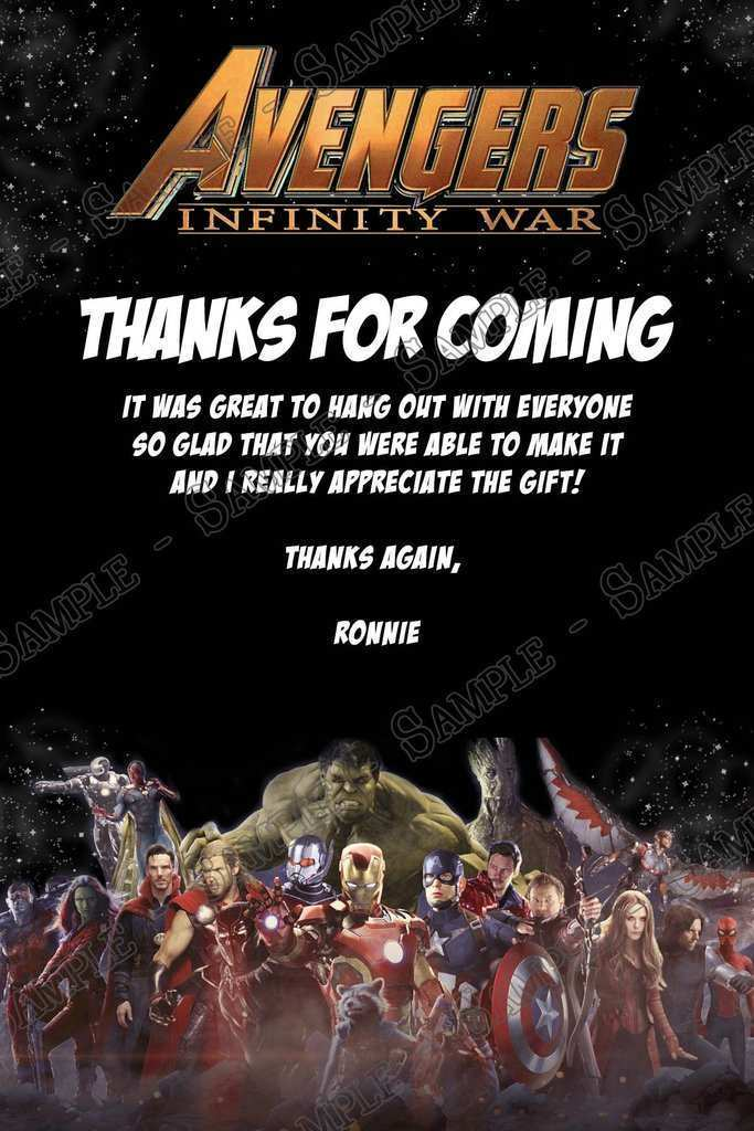 14 How To Create Avengers Thank You Card Template in Word with Avengers Thank You Card Template