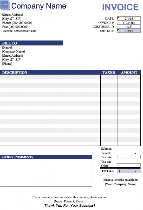 14 How To Create Blank Invoice Template Excel Photo for Blank Invoice Template Excel