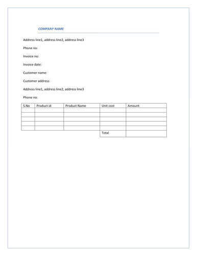 14 Online Simple Invoice Template Doc Download With Simple Invoice Template Doc Cards Design Templates