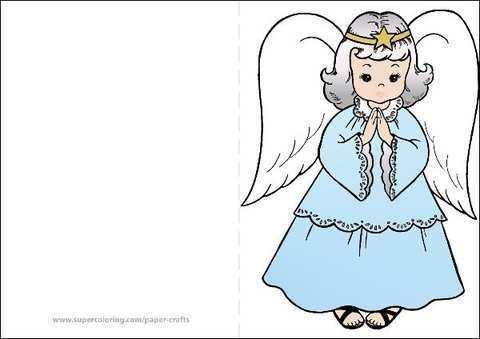 14 Printable Angel Christmas Card Template Formating by Angel Christmas Card Template