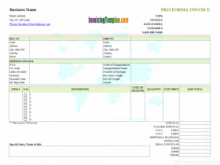 14 Printable Hotel Pro Forma Invoice Template in Word for Hotel Pro Forma Invoice Template