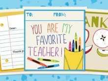 Thank You Card Templates For Teachers