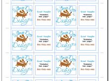 14 Standard 8 Up Business Card Template PSD File with 8 Up Business Card Template