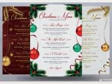 14 Standard Christmas Menu Card Template Free Maker with Christmas Menu Card Template Free