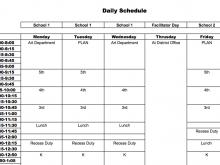14 Standard Class Schedule Template For Elementary with Class Schedule Template For Elementary