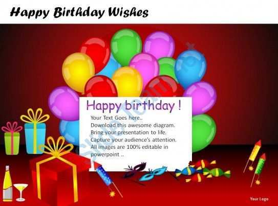 14 Standard Happy Birthday Card Template Ppt Now with Happy Birthday Card Template Ppt