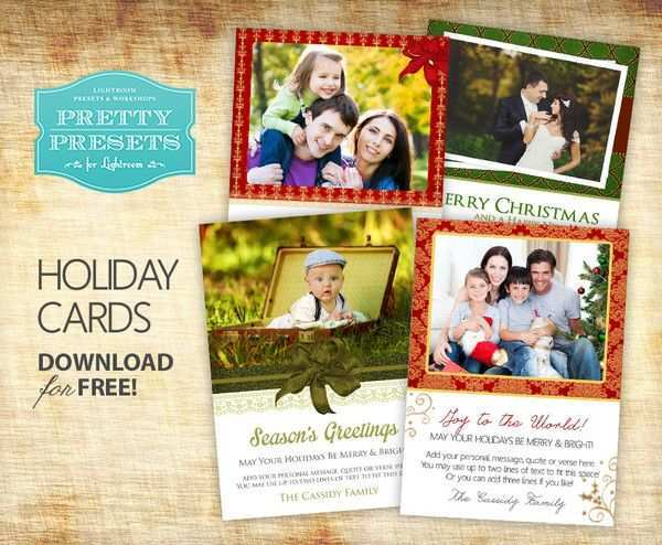 15 Best Christmas Card Template Lightroom With Stunning Design by Christmas Card Template Lightroom