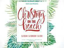 15 Create Beach Christmas Card Template Download by Beach Christmas Card Template