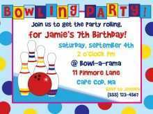 15 Creating Bowling Party Flyer Template with Bowling Party Flyer Template