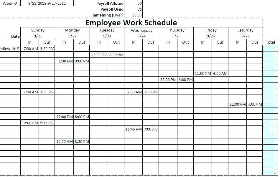 15 Creating Class Rotation Schedule Template with Class Rotation Schedule Template