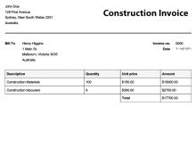 15 Creating Construction Invoice Template Nz in Word with Construction Invoice Template Nz