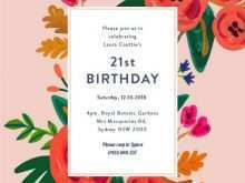 15 Creative 21St Birthday Card Invitation Templates For Free with 21St Birthday Card Invitation Templates
