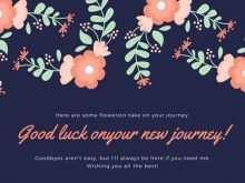 15 Creative Farewell Card Template Online PSD File for Farewell Card Template Online