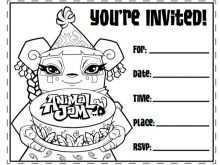 Invitation Card Template Black And White