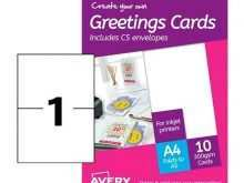 Avery Greeting Card Template 3378