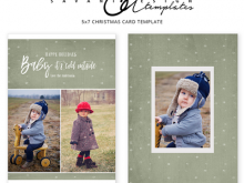 15 Free Printable Baby Christmas Card Template in Photoshop with Baby Christmas Card Template