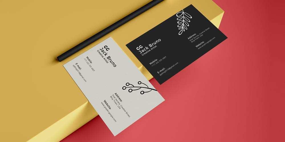 15 Online Business Card Mockup In Illustrator for Ms Word for Business Card Mockup In Illustrator