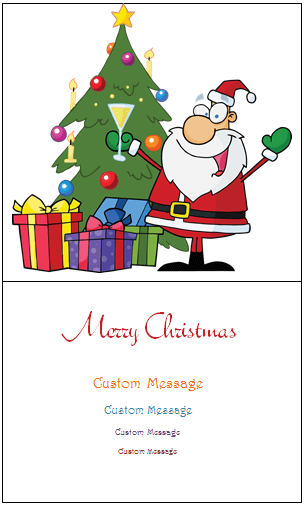15 Printable Christmas Card Template Message Formating with Christmas Card Template Message