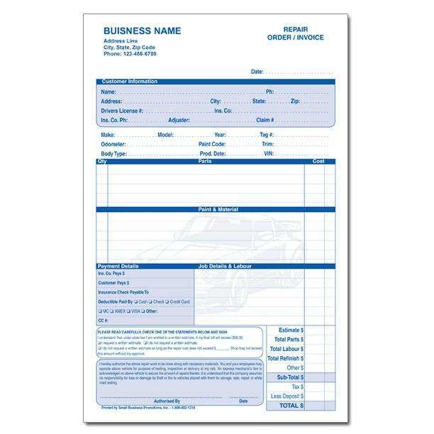 15 Report Auto Glass Repair Invoice Template in Photoshop for Auto Glass Repair Invoice Template