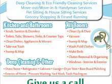 15 Report Cleaning Flyers Templates Layouts with Cleaning Flyers Templates